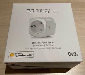 Elgato Eve Energy (3. Gen/20EAJ8301) Smarte Steckdose, Messfunktion, HomeKit