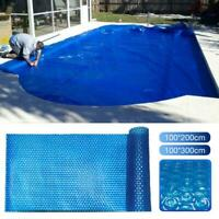 Swimming Pool Solar Heating Cover Sun UV Block Blanket Bubble Film Dustproof
