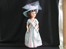 """Doll 11"""" Plastic Frozen Legs Atc Dress me doll comes with two outfits"""