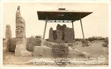 RPPC Frasher Foto Postcard Casa Grande National Monument AZ SW Corner Building