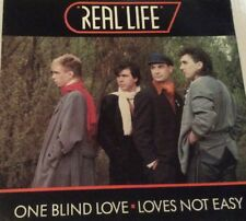 "Real Life One Blind Love. Love's Not Easy 7"" Vinyl Record"