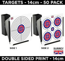 Air Rifle Pistol Gun BB Airsoft Shooting 14cm Target 2 Sided Colour 120gsm 50 Pk