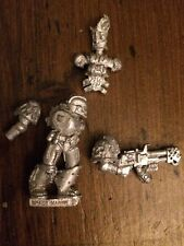 Damned Legionnaires With Flamer Metal  Rare Legion Of The Damned  WH40k