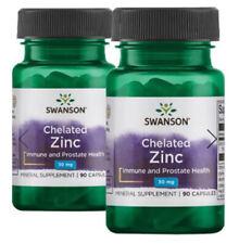 2x Swanson Chelated Zinc 30mg 90 Caps (Tot. 180 Caps) Immune and Prostate Health