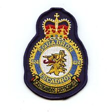 RCAF CAF Canadian 424 Squadron Heraldic Colour Crest Patch