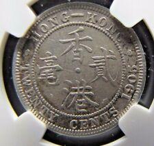 Hong Kong 20 Cents 1905- RARE