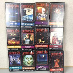 Stephen King Lot Of 12 VHS Tapes Set Video Cassette Steven King's  IT Carrie
