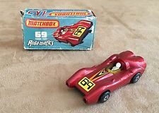 Vintage Matchbox Superfast Rola-matics #69 Turbo Fury box Diecast 1973 LESNEY