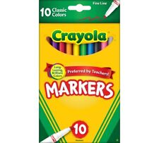 Crayola Classic Markers, Fine Line, 10 Pack