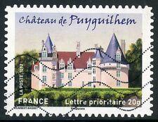 TIMBRE FRANCE AUTOADHESIF OBLITERE N° 728 / CHATEAU DE PUYGUILHEM