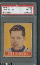 1948 Leaf #165 Dale Mitchell Cleveland Indians RC Rookie SP PSA 6 EX-MT