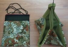 (Green Camo Skulls & Crossbones!) Sugar Glider Bonding Pouch & Sleeping Hammock