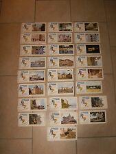 25 anciens buvards FLAN LYONNAIS - série B châteaux de la LOIRE - série complète
