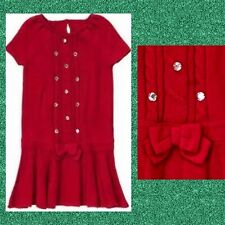 """NWT Girls 3 Gymboree """"FANCY DALMATIAN"""" Cotton-blend RED CABLE SWEATER DRESS Gems"""