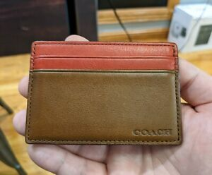 Coach Leather I.D. / Credit Card Holder Wallet - St. Louis Cardinals Colors NEW