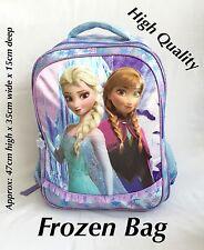 "NEW XLARGE SCHOOL  PURPLE BAG FROZEN ANNA & ELSA 47CM"""""