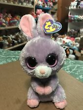 Ty PETUNIA -Lavender/Pink MWCTs Easter Rabbit Beanie Boo! *Retired* RARE & VHTF!