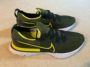 Nike React Infinity Run Flyknit men's trainers   black/yellow   size 7.5   new