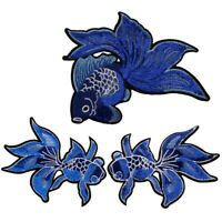 Fish Embroidered Applique Sew Iron on Cloth Patch Badge Jacket Jeans Decor LE