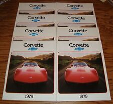 Original 1979 Chevrolet Corvette Foldout Sales Brochure Lot of 8 79 Chevy