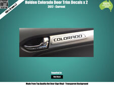 HOLDEN COLORADO DOOR TRIM DECAL - BLACK 130MM LONG x 2