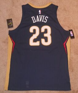 Anthony Davis New Orleans Pelicans Navy Authentic Jersey sz 52 Nike New w/ tags