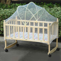 Babies Cradle Crib Arched Mosquito Net Tent Canopy Anti Insect Mesh Curtain Dome