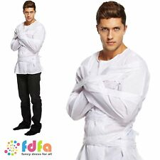 ADULT STRAIGHTJACKET CRAZY MAD MAN DRESS UP OUTFIT mens fancy dress costume