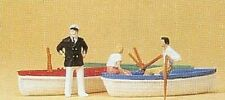 HO Preiser 10072 Sea Captain & Couple w/ THREE Row Boats & THREE FIGURES