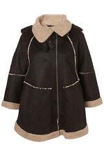 New lovely TOPSHOP faux sheepskin cape UK 16 in Black