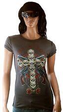 WoW AMPLIFIED GUNS N'ROSES Rock Star Cross Skull Vintage Designer T-Shirt g.L 42