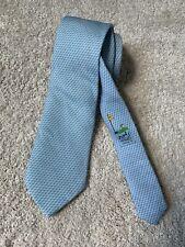 Hermes Paris Creative Rare Limited Edition Silk Blue Golf Tie Model 645701 PA
