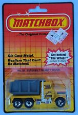 "Matchbox MOC 1981 Peterbilt Quarry Truck ""Dirty Dumper"" Macau No 30 Vintage"