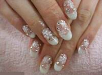 Christmas White Snowflakes Design 3D Nail Art Stickers Decals Nail Decoration