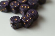 Speckled 12mm D6 RPG Chessex Dice (12 Dice) Hurricane Purple Gold Black Yahtzee