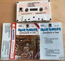 IRON MAIDEN - Somewhere in Time MC RARE 1'ST POLISH PRESS 1989 RC