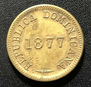 Dominican Republic 1877 One Centavo Coin