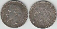 Pièces de monnaie françaises de 5 francs 5 francs en argent sur Napoléon III