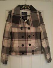 BRAND NEW GIO GOI Double Breasted Elliot Jacket Grey/Pink Check Size S (8/10)