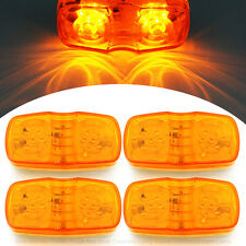 4 Pcs Amber 12 Diodes LED Side Marker Turn Signal Lights Boat Truck Trailer