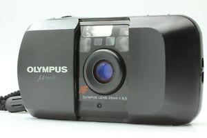 [Near MINT w/ Strap] Olympus μ mju AF 35mm f3.5 Black Point & Shoot From JAPAN