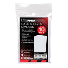 Ultra PRO Trading Card Storage Index Dividers 10ct White