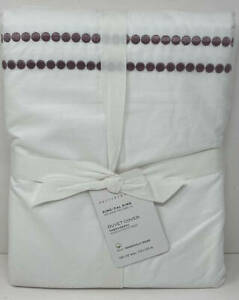 Pottery Barn Pearl Embroidered KING Duvet Cover ~ Lavender Purple