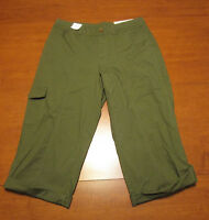 287e37107e WOMEN S DARK OLIVE GREEN CAPRI PANTS - CROFT   BARROW - SIZE 4 - NEW -
