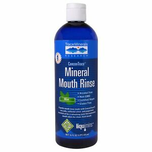 Trace Minerals Research, ConcenTrace Mineral Mouth Rinse, Mint, 16 fl oz (473