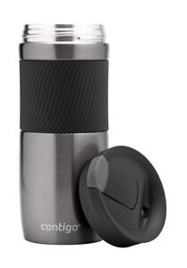Contigo Byron Snapseal Travel Coffee Mug Stainless Steel Thermal Gunmetal 470ml
