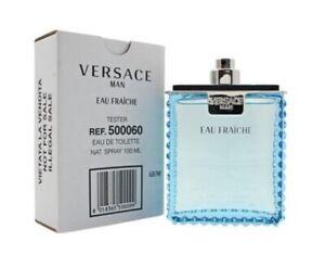 Versace Eau Fraiche Men 3.4 oz 100 ml Eau De Toilette Spray Tst Bottle No Cap