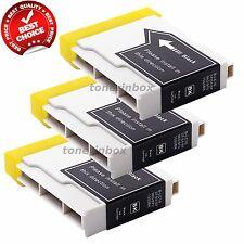 3pk LC51 LC-51 BK Ink for Brother MFC-230C MFC-240c MFC-885c MFC-465cn MFC-5860
