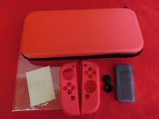 Starter Kit für Nintendo Switch Rot: Tasche Case Displayfolie Joycon Protector