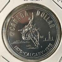 1975 CANADA SILVER DOLLAR CALGARY BRILLIANT UNCIRCULATED CROWN
